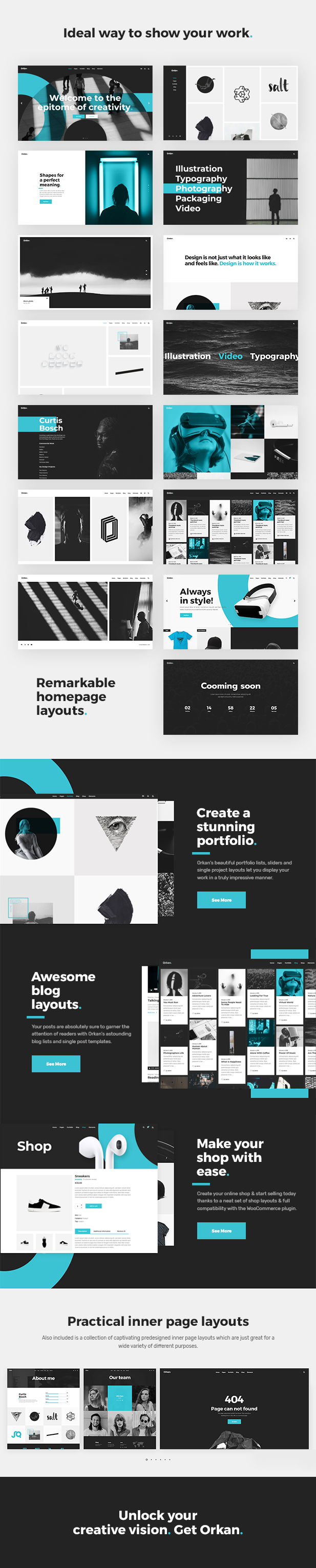 WordPress theme Orkan - A Portfolio Theme Made for Designers, Artists and Agencies (Portfolio)